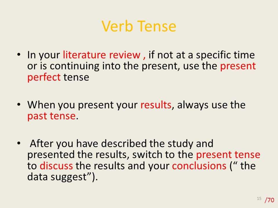 apa literature review past tense