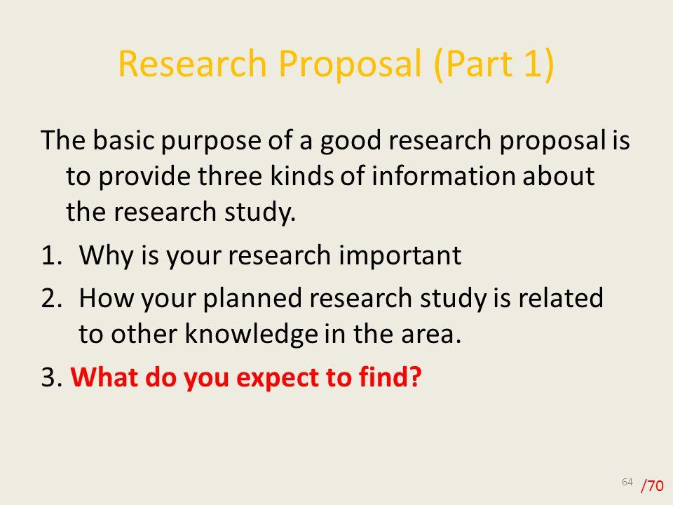 research proposal part a