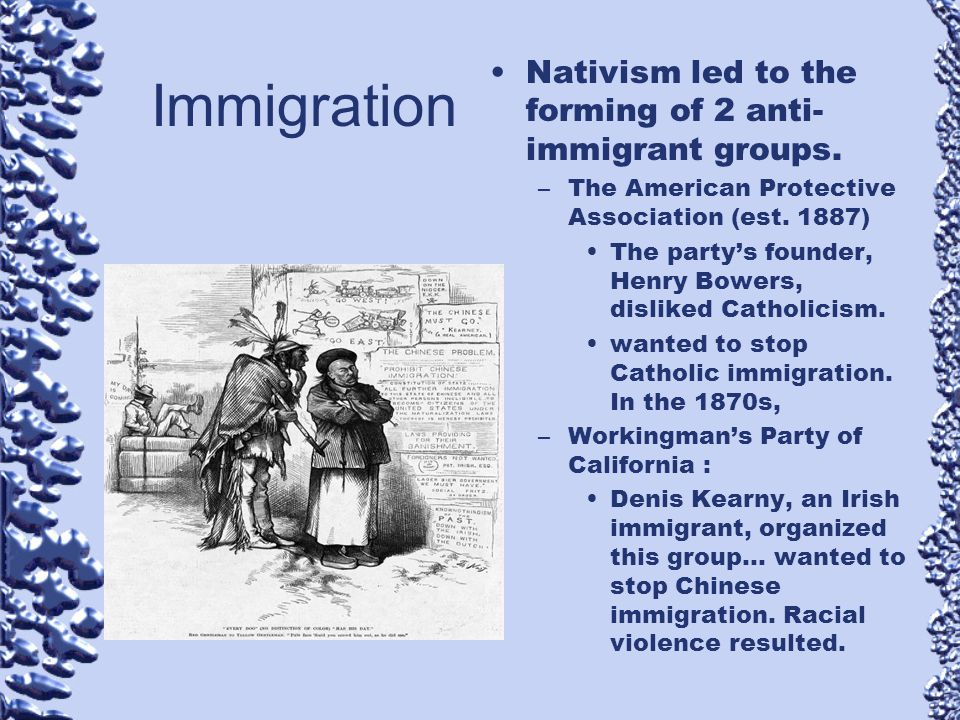 nativism race and immigrants The concept of nativism and anti-immigrant sentiments in europe  and critical race studies  which severely limited state assistance to undocumented immigrants.