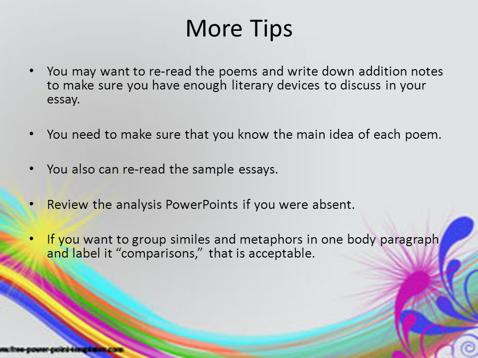Literary Analysis WRITING THE BODY PARAGRAPHS  BODY PARAGRAPH     SlidePlayer