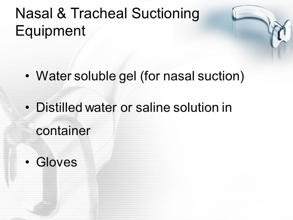 Nasal & Tracheal Suctioning Equipment