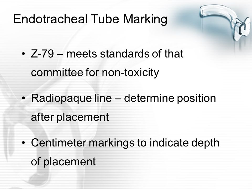 Endotracheal Tube Marking