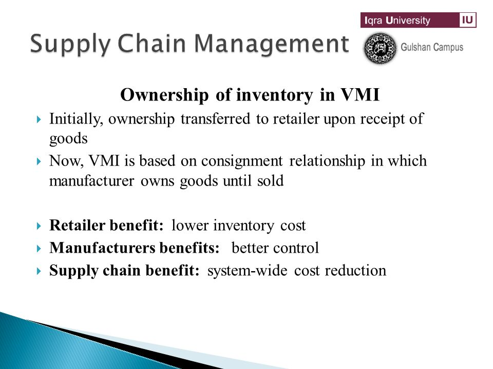 Supply Chain Management Through Cost Reduction