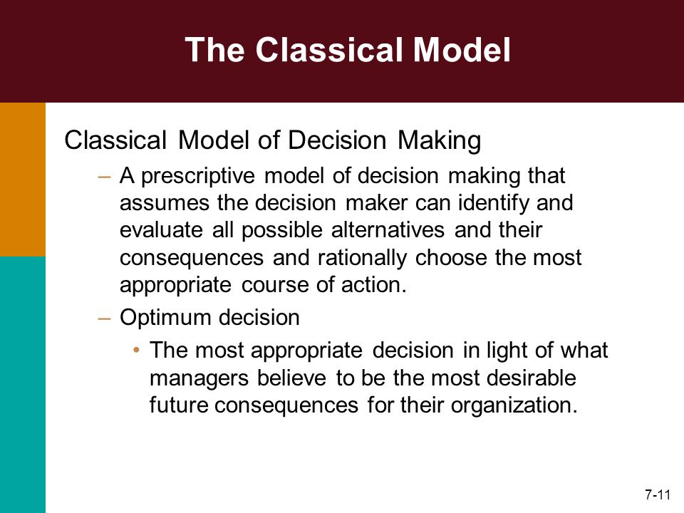 classical model decision making essays