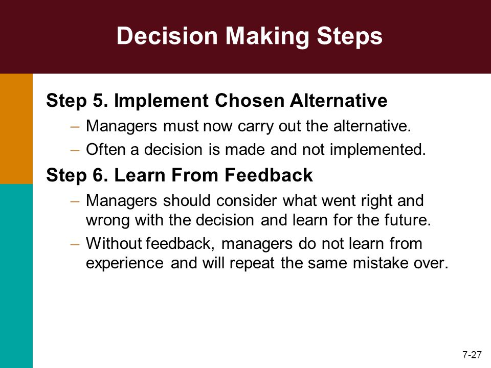 What is decision making?