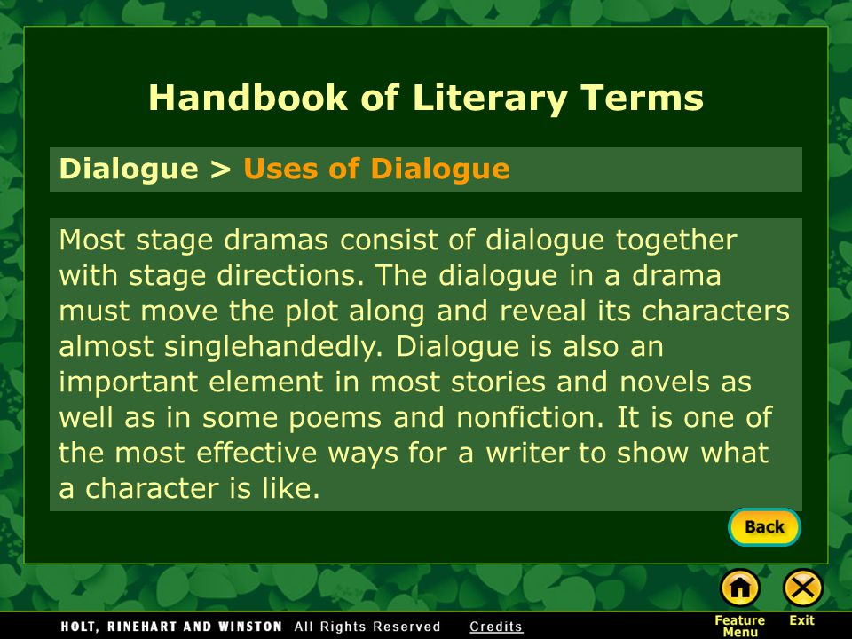 Literary analysis dialogue and stage directions