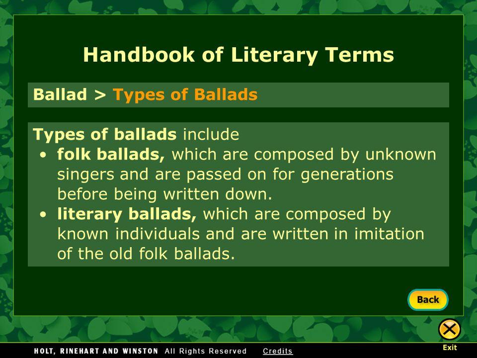 handbook of literary terms pdf