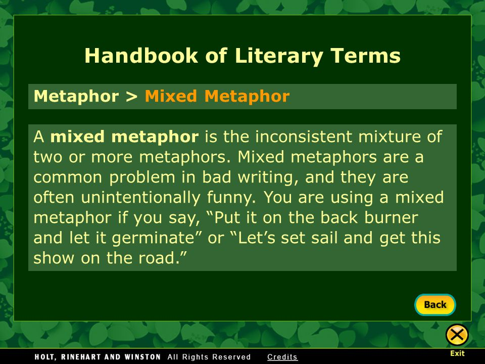 Handbook Of Literary Terms Ppt Download
