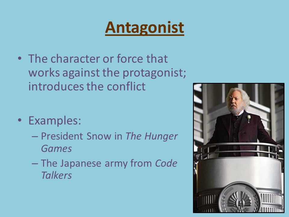 example of antagonist in literature