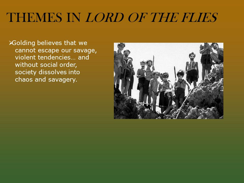 An analysis of the theme of flaws in the novel lord of the flies by william golding