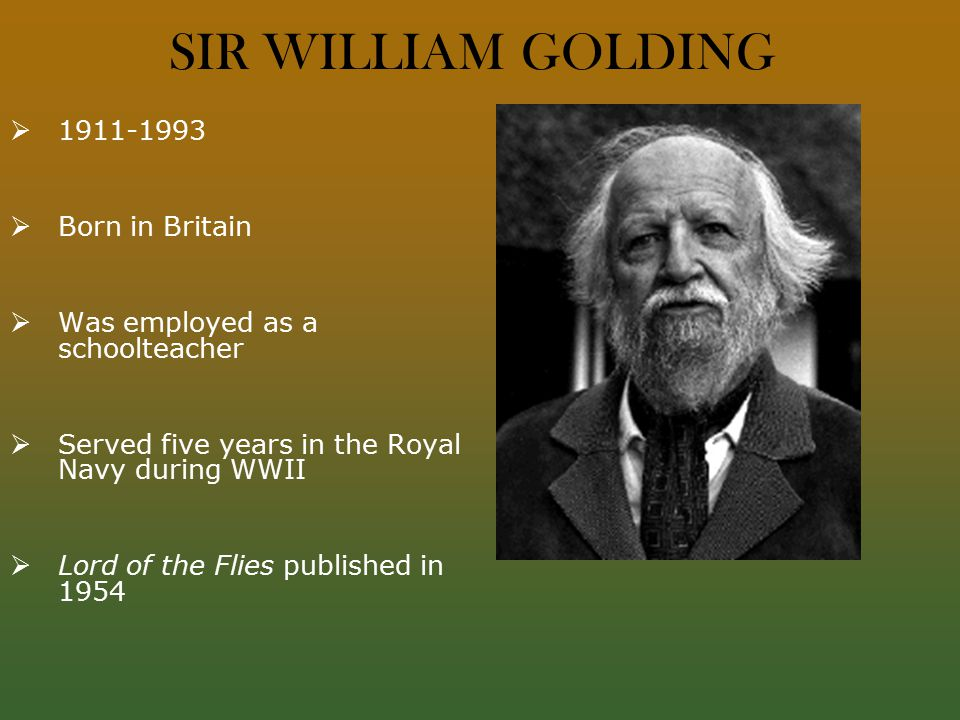 world war ii and william golding The british novelist william golding won the nobel prize for especially among the youth of the post–world war ii generationwilliam gerald golding.