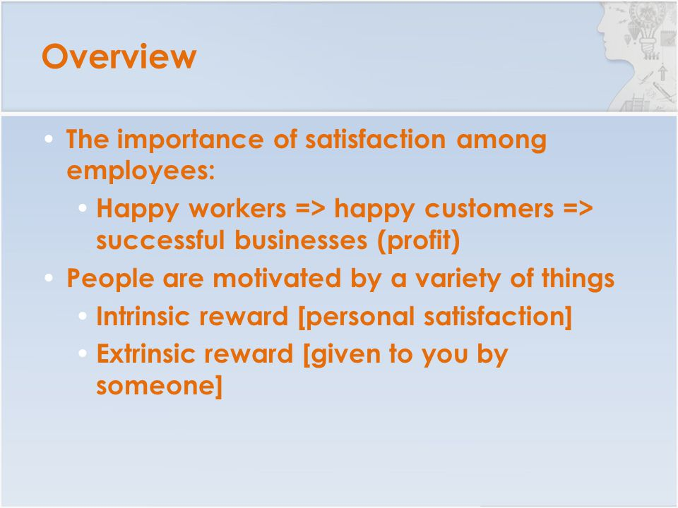 Reward of motivating good employees