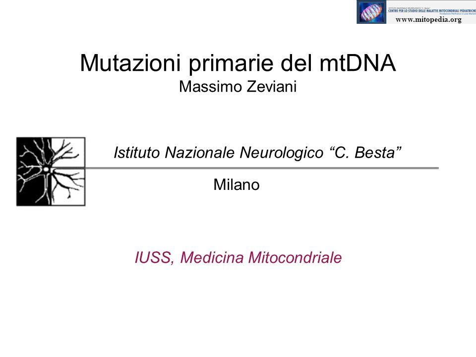 Mutazioni primarie del mtDNA