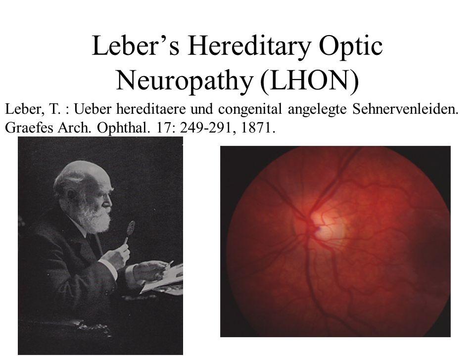 Leber's Hereditary Optic Neuropathy (LHON)