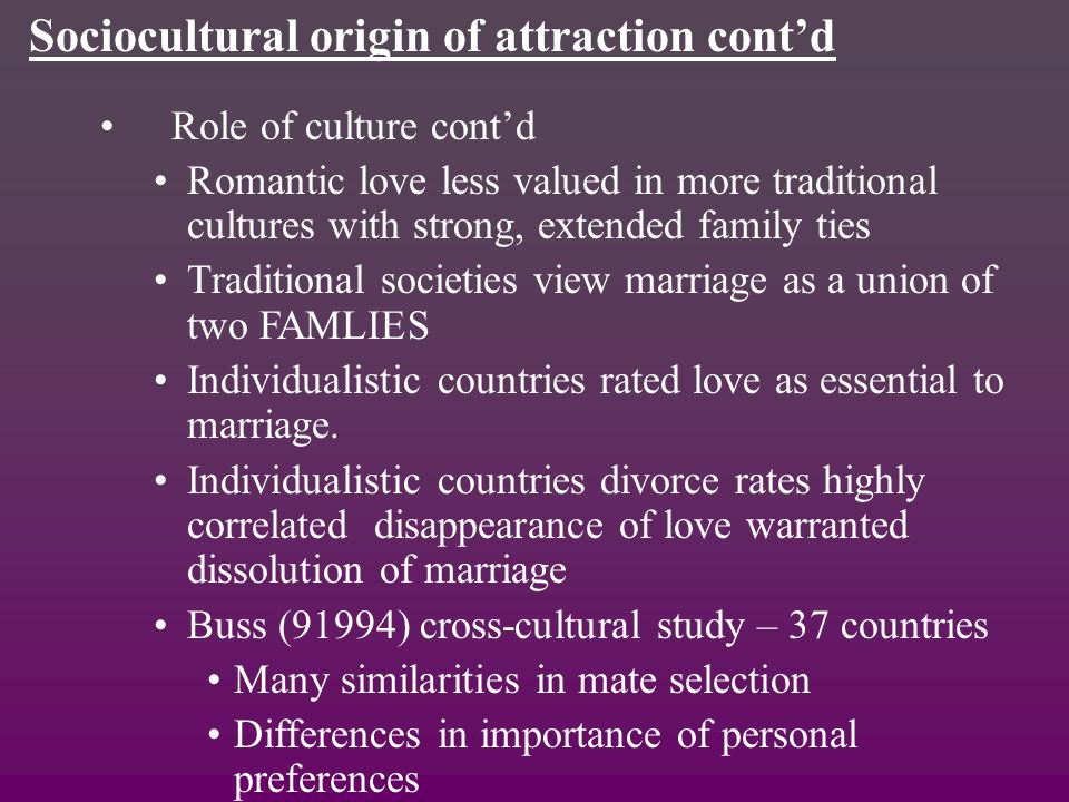 buss study differences in human mate Sex differences in mate preferences buss & schmitt, 1993)1 the present study replicated these human beings, the sex differences in physical attractiveness.