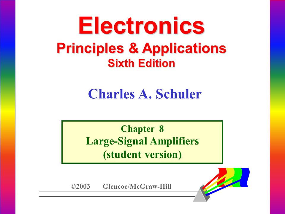 Principles & Applications Large-Signal Amplifiers
