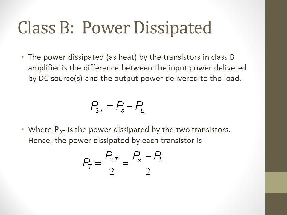 class b power amplifier pdf