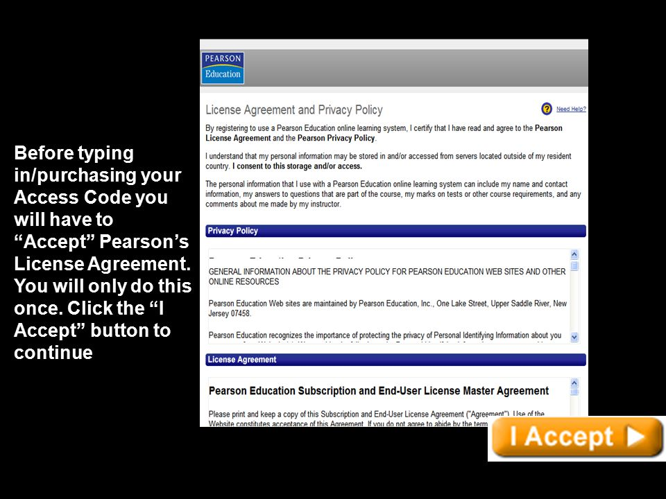 how to get pearson instructor access code