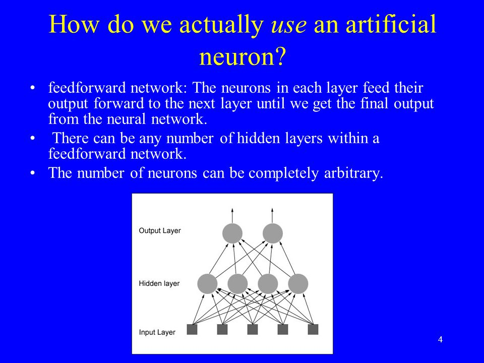 How do we actually use an artificial neuron