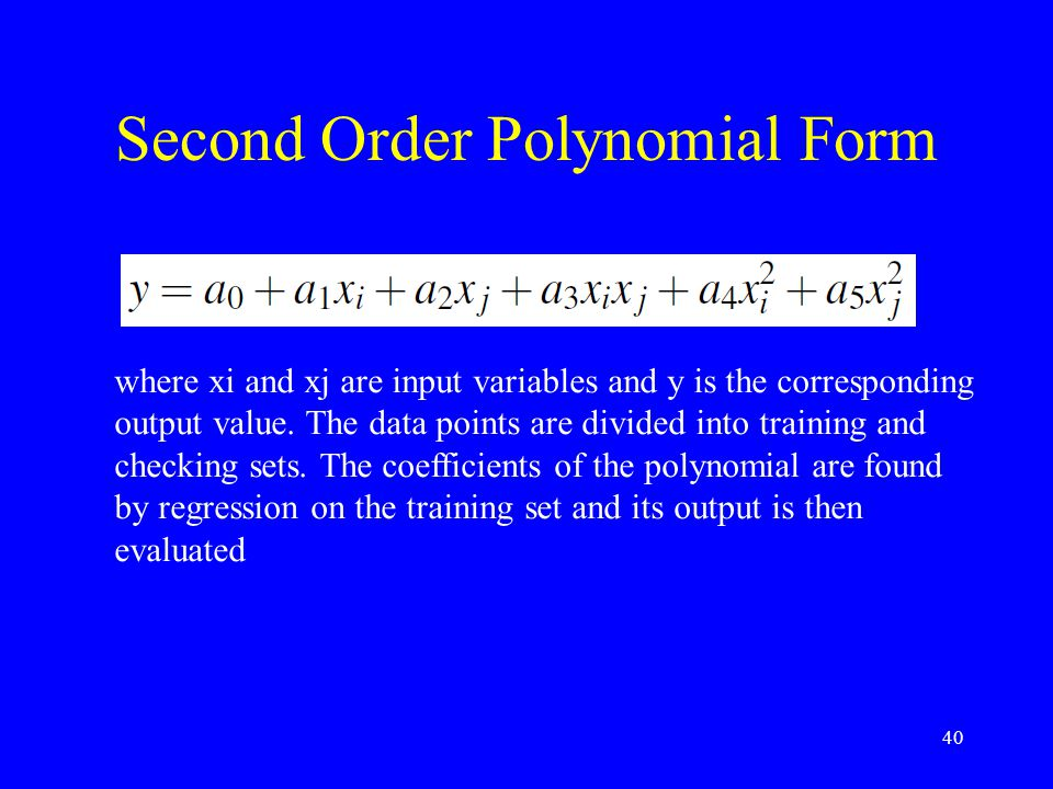 Second Order Polynomial Form