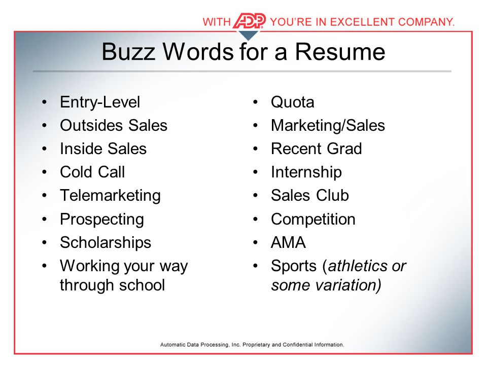 cover letter buzzwords