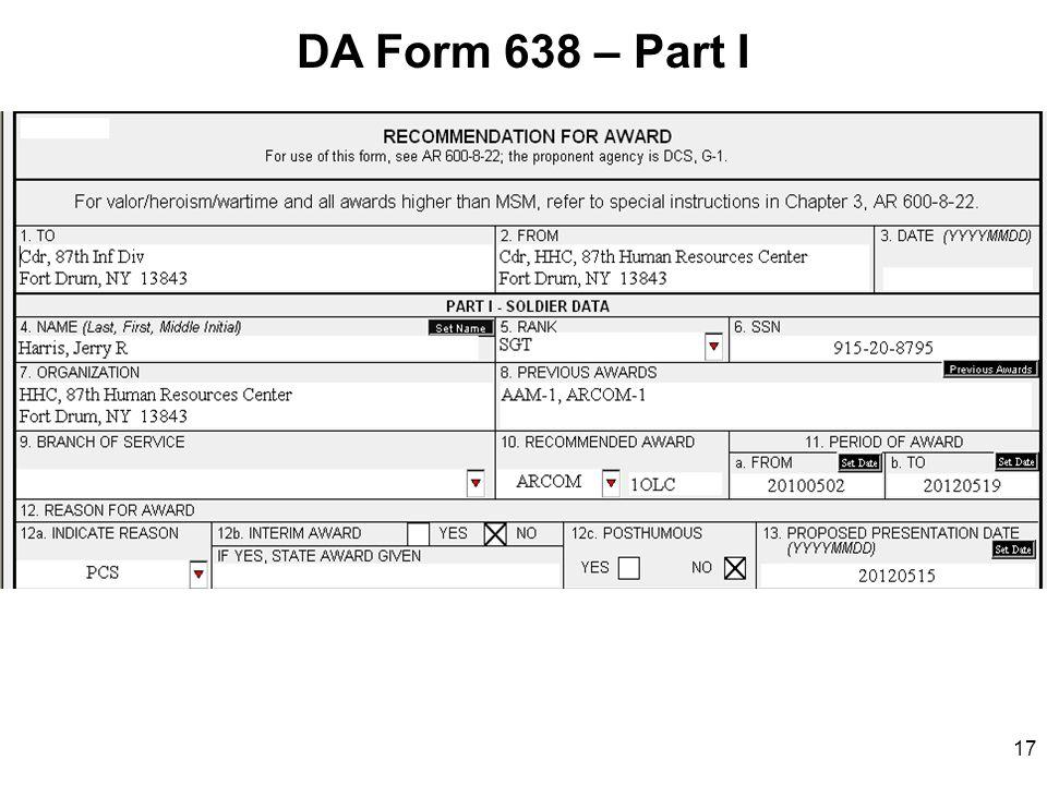 da form 638