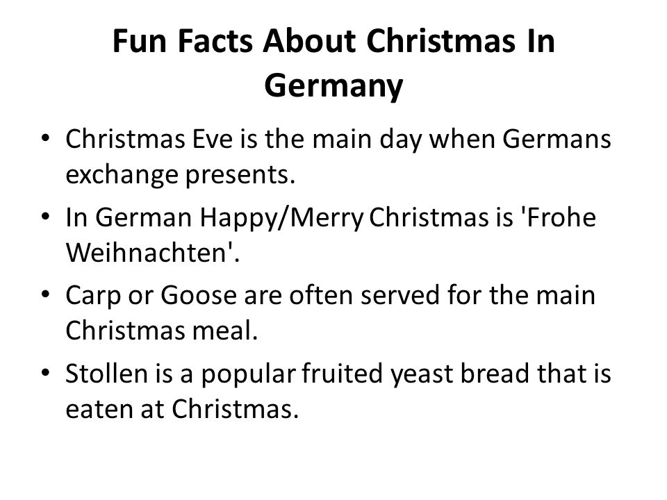 Fun Facts About Christmas In Germany