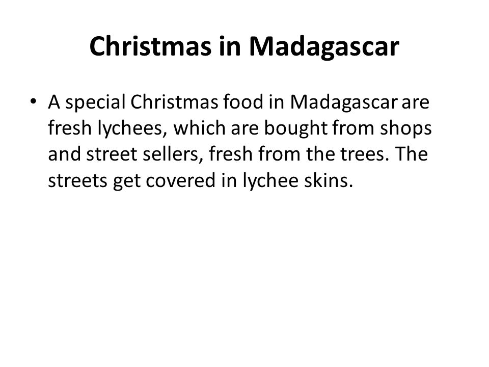 Christmas in Madagascar