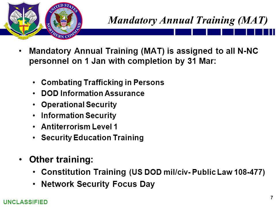 Norad And Usnorthcom Training And Education Program Ppt