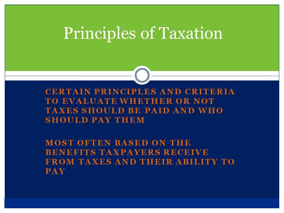 The theory of taxation in literature