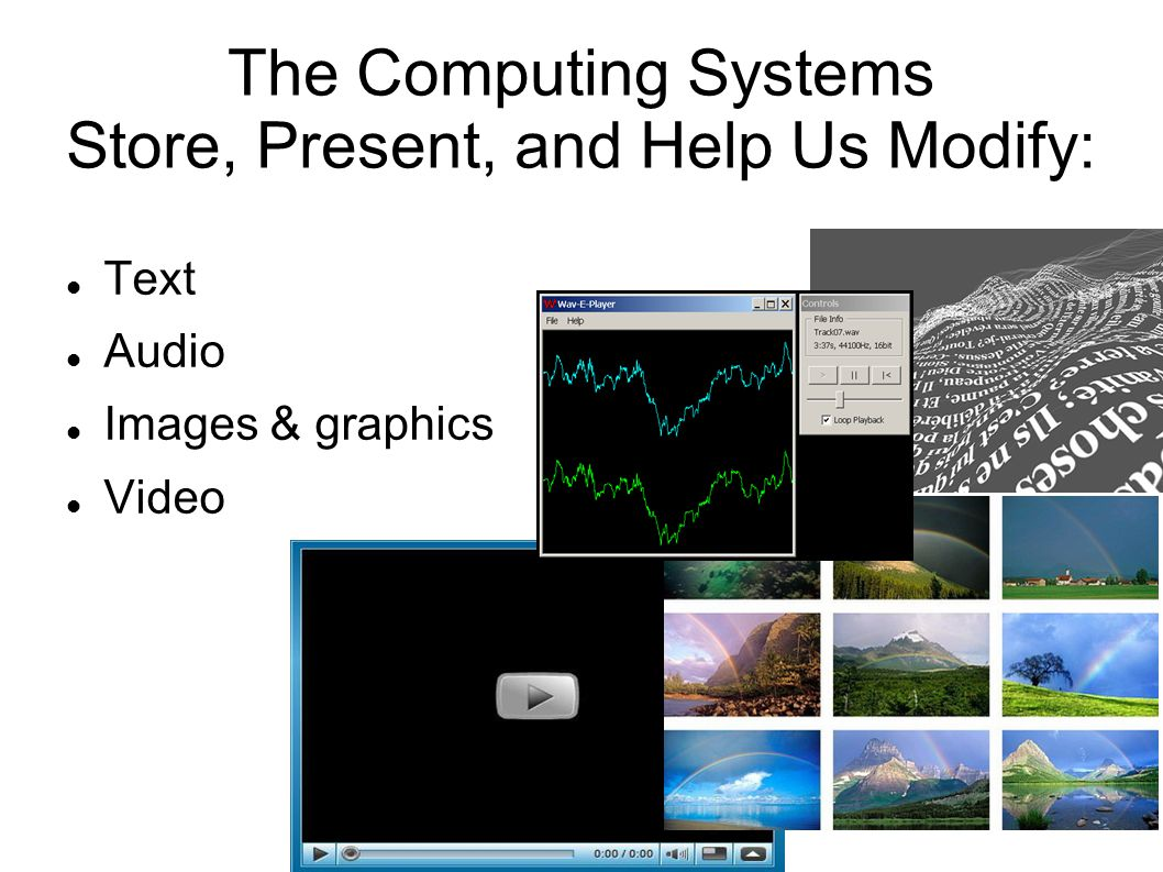 The Computing Systems Store, Present, and Help Us Modify: