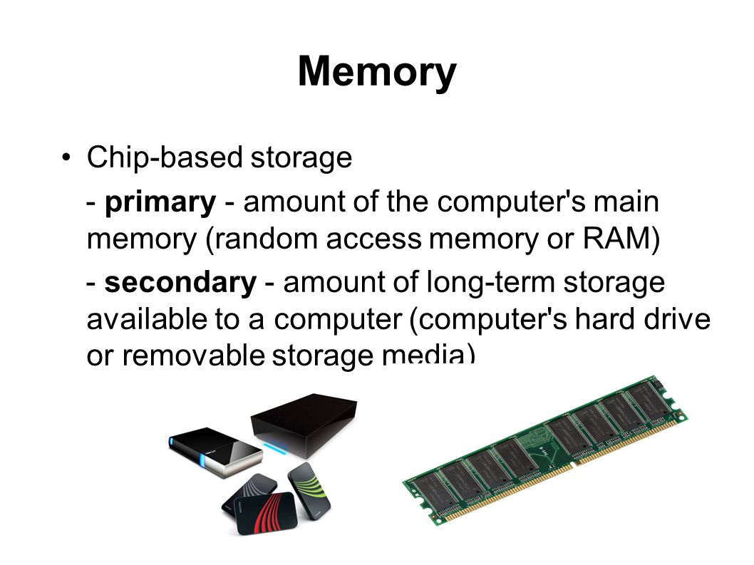 Memory Chip-based storage