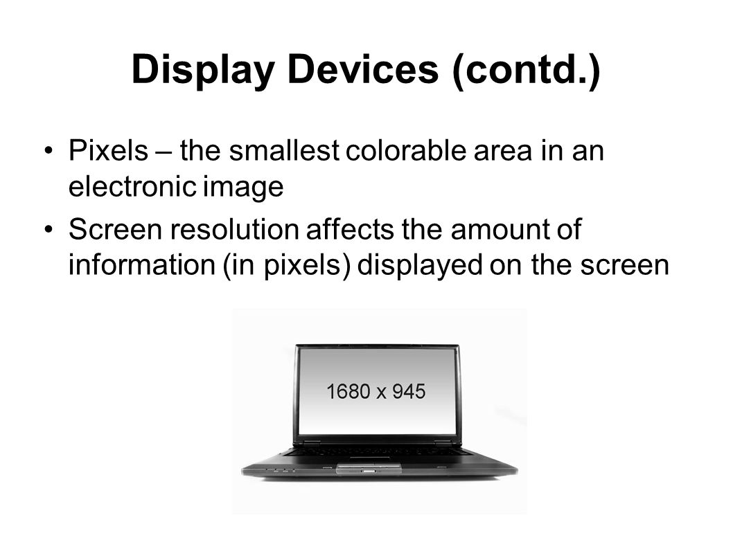 Display Devices (contd.)