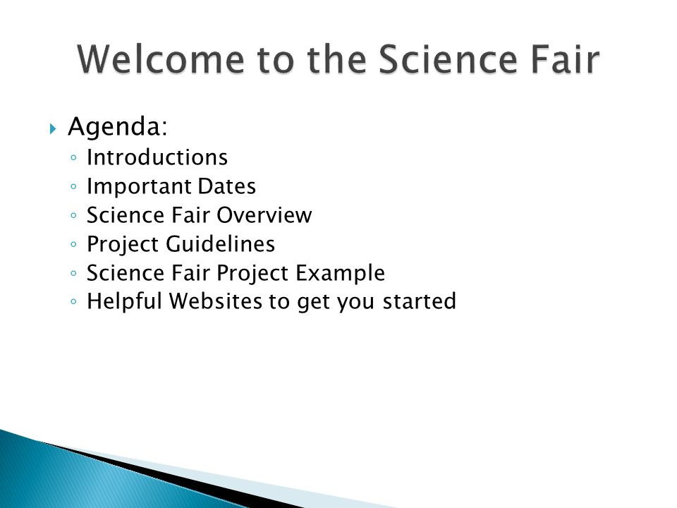 Welcome to the Science Fair