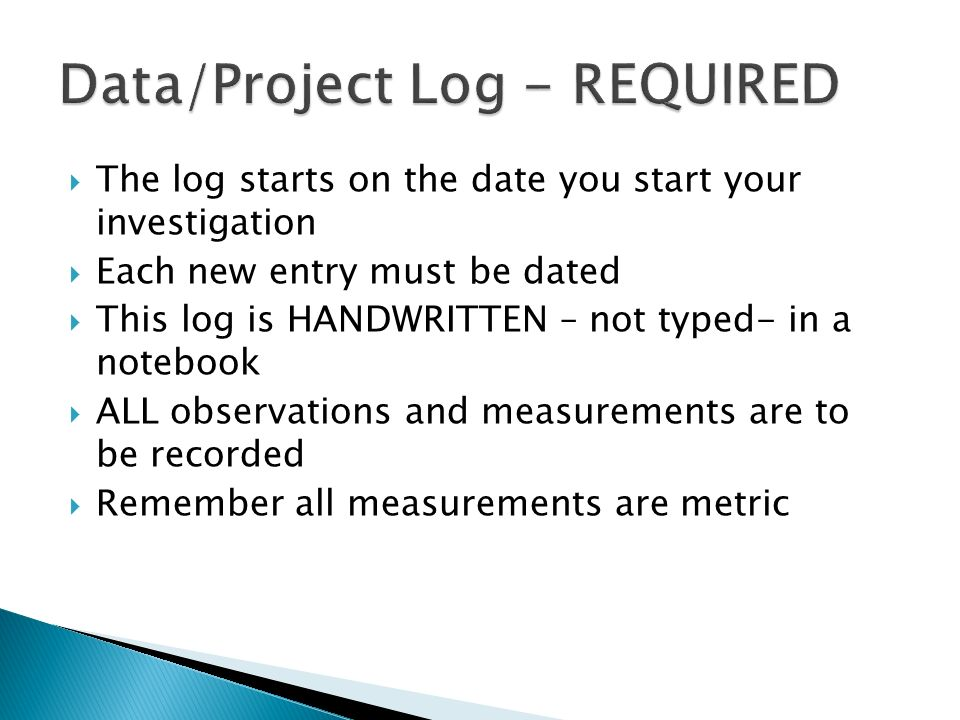 Data/Project Log - REQUIRED