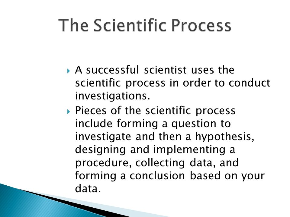 The Scientific Process