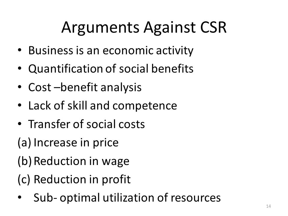 The Case Against the Case Against CSR