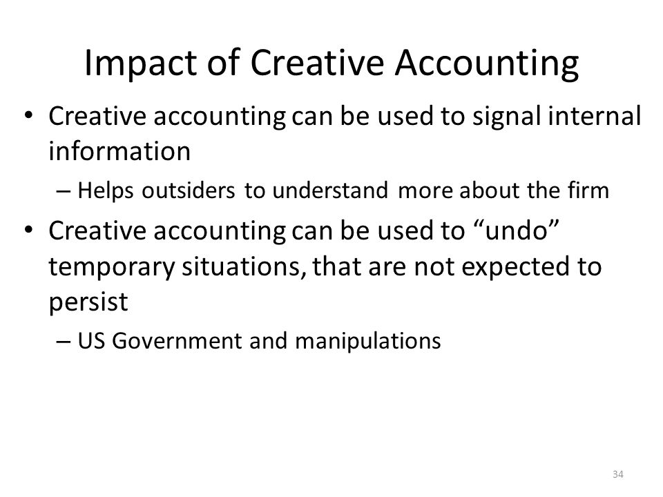 the implication of creative accounting on the firms Implications of corporate social responsibility for the  2department of accounting, university of  firm and its host typically does not define such expanded.