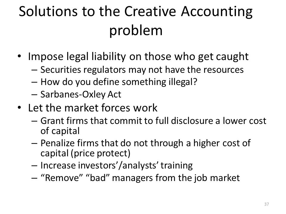 The ethics of creative accounting