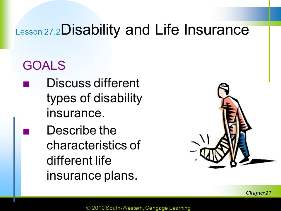 Lesson 27.2Disability and Life Insurance
