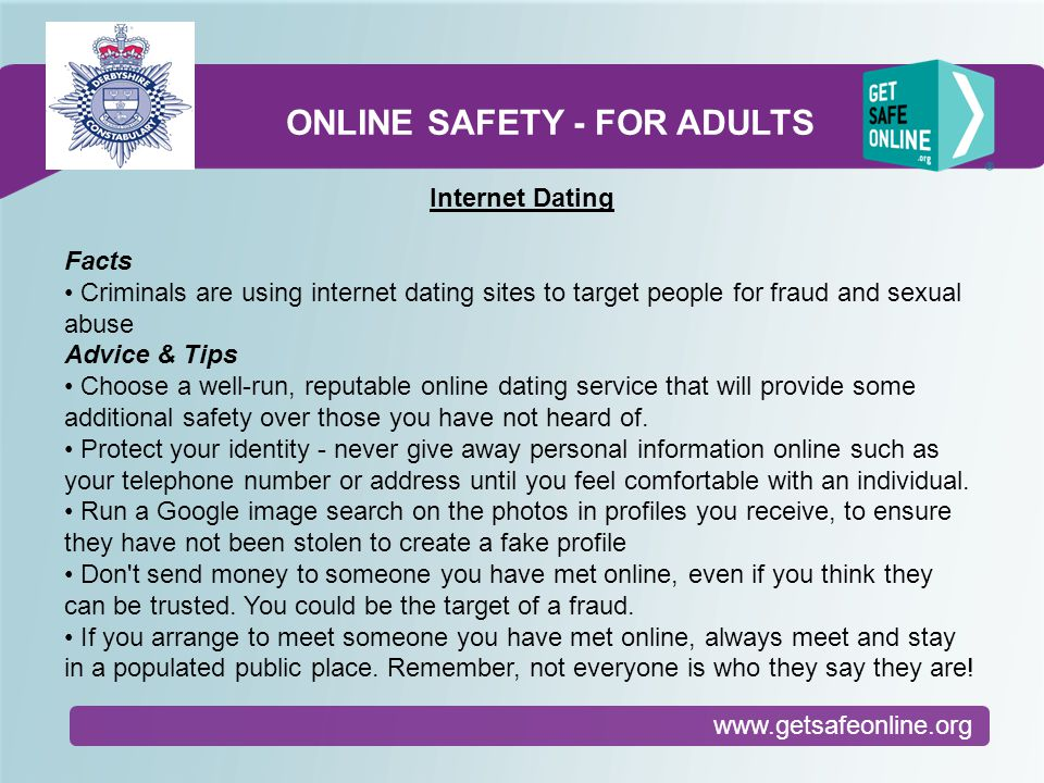 Dating online safety tip