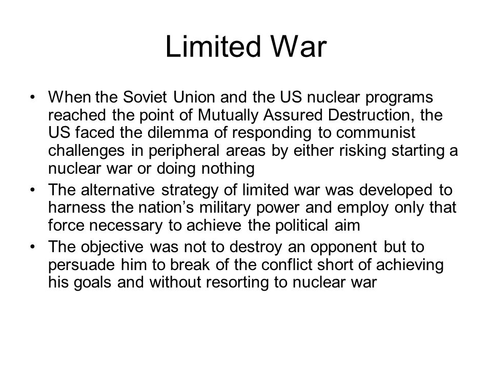 an analysis of the destructive force of a nuclear war The restraint showed in many instances was not due to a lack of a reason for  conflict, but because the destructive power of nuclear weapons.