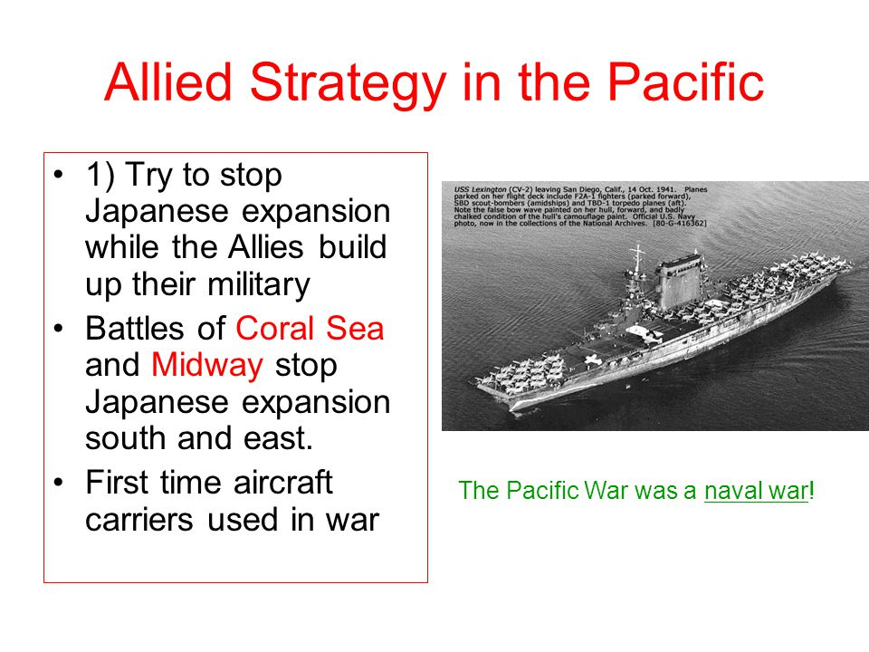 Allied Strategy in the Pacific