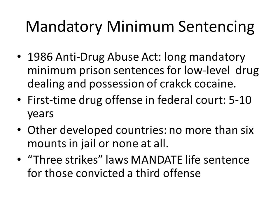 Three strikes law is a strict mandatory life sentence