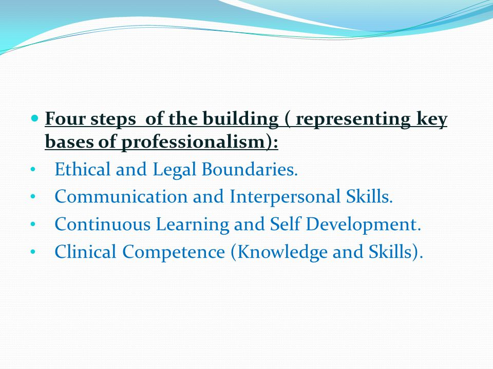key elements of profesionalism and ethics The importance of our professional values  a characteristic of a professional association is the existence of a code of ethics  one of the key elements.