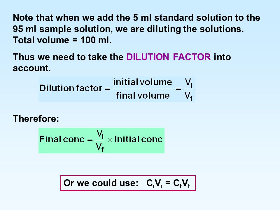 dilutions and standards notes Standard dilutions [amount of drug] [infusion volume] [infusion rate]  note: a  daily infusion of 40 mg does not raise gastric ph sufficiently to.