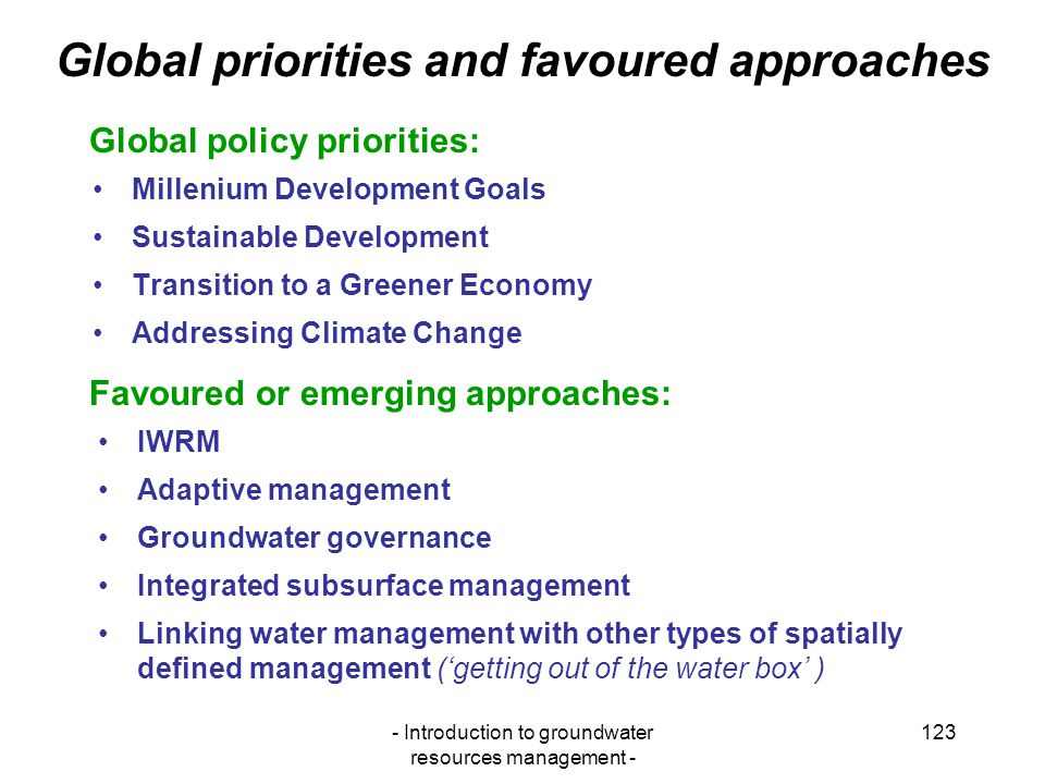 Global priorities and favoured approaches