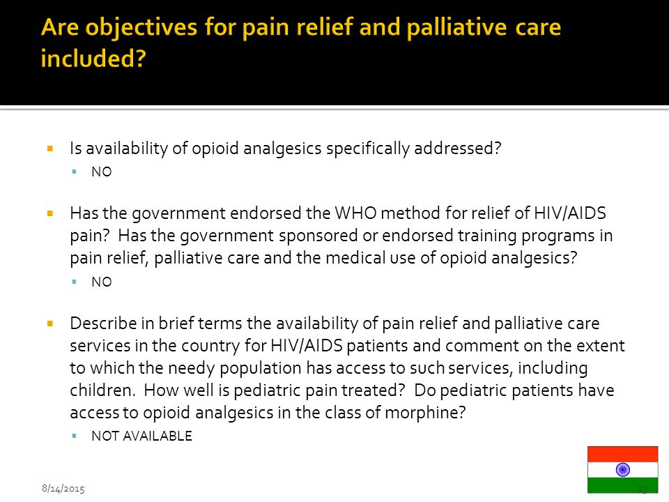 pain management and palliative care essay