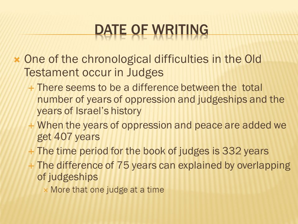 the role of the judges in israel essay The book of judges:  as long as there was human witness alive that had been present at the great events testifying to god's role on behalf of israel.