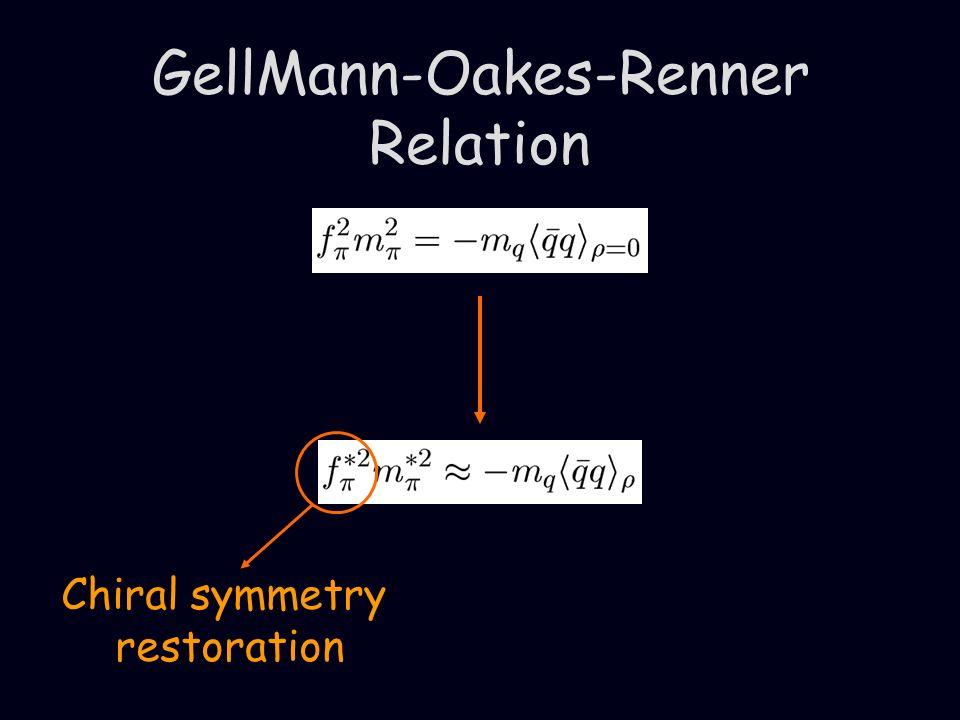 GellMann-Oakes-Renner Relation